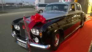Prestige Cars Events - nœud rouge - Location voiture Mariage, Rolls, Normandie